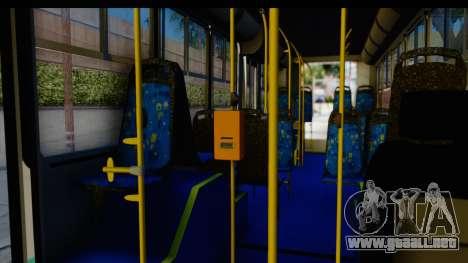 Metrobus de la Ciudad de Mexico para GTA San Andreas vista hacia atrás