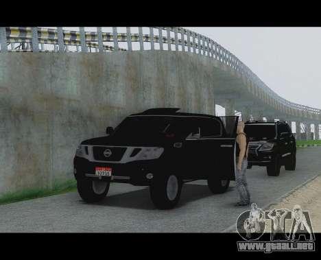 Nissan Patrol para GTA San Andreas vista posterior izquierda