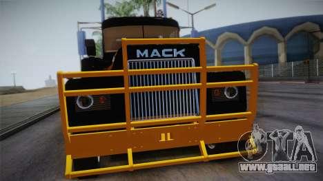 Mack R600 v1 para la visión correcta GTA San Andreas