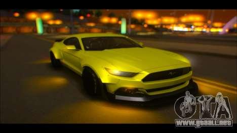 Ford Mustang 2015 Liberty Walk LP Performance para visión interna GTA San Andreas