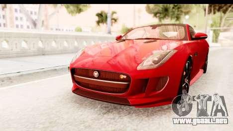 Jaguar F-Type R Coupe 2015 para la visión correcta GTA San Andreas