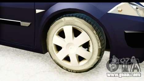 Renault Megane 2 Sedan 2003 v2 para GTA San Andreas vista hacia atrás