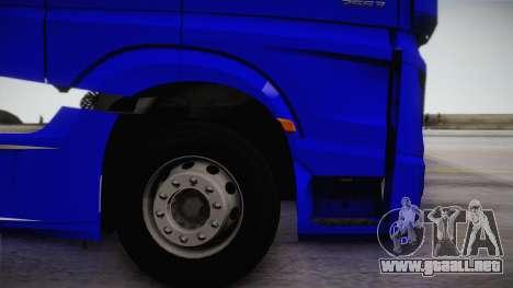 Mercedes-Benz Actros Mp4 6x4 v2.0 Gigaspace para la visión correcta GTA San Andreas