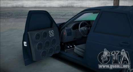 VAZ 2112 Bpan para GTA San Andreas vista posterior izquierda