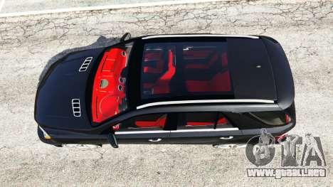 GTA 5 Mercedes-Benz ML63 AMG (W166) 2015 [replace] vista trasera