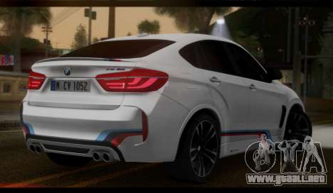 BMW X6M F86 M Performance para GTA San Andreas left