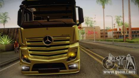 Mercedes-Benz Actros Mp4 v2.0 Tandem Big para visión interna GTA San Andreas