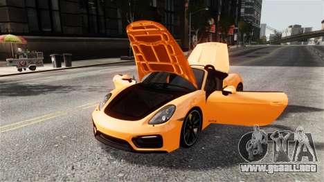 Porsche Boxster GTS 2014 para GTA 4 vista interior