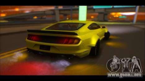 Ford Mustang 2015 Liberty Walk LP Performance para vista lateral GTA San Andreas