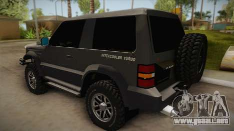 Mitsubishi Pajero 3-Door Off-Road para GTA San Andreas left