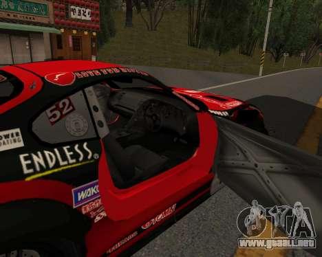 D1GP Toyota Supra Hadaka Supra JZA80 para la visión correcta GTA San Andreas