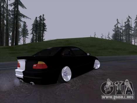 BMW E46 Good and Evil para GTA San Andreas vista hacia atrás