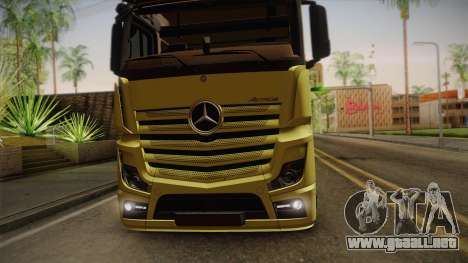 Mercedes-Benz Actros Mp4 v2.0 Tandem Big para GTA San Andreas vista hacia atrás