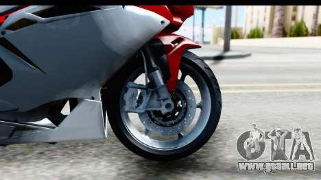 MV Agusta F4 para GTA San Andreas vista hacia atrás