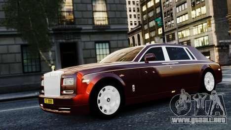 Rolls-Royce Phantom EWB 2013 para GTA 4 vista hacia atrás