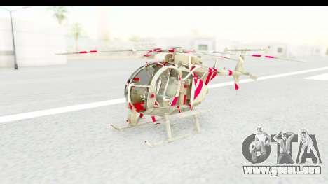 Smaga Sparrow Helis Military Version para la visión correcta GTA San Andreas