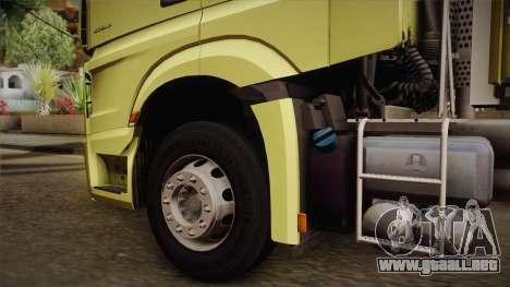 Mercedes-Benz Actros Mp4 v2.0 Tandem Big para la visión correcta GTA San Andreas
