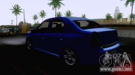 Dacia Logan Cocalar Edition para GTA San Andreas vista posterior izquierda