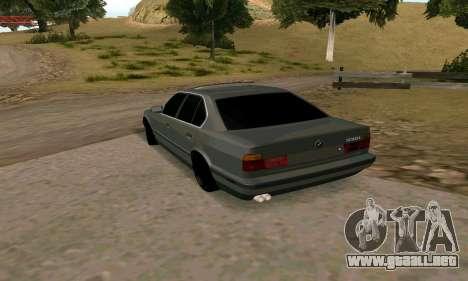 BMW 535i E34 para GTA San Andreas vista posterior izquierda