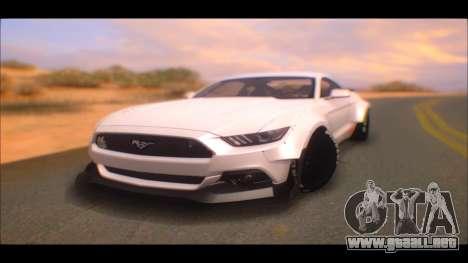 Ford Mustang 2015 Liberty Walk LP Performance para GTA San Andreas