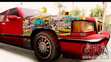 Elegant Sticker Bomb para GTA San Andreas vista hacia atrás
