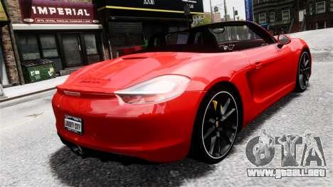 Porsche Boxster GTS 2014 para GTA 4 left