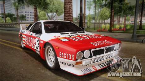 Lancia Rally 037 Stradale (SE037) 1982 IVF Dirt2 para GTA San Andreas left