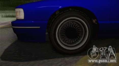 Declasse Premier 1992 IVF para GTA San Andreas vista hacia atrás