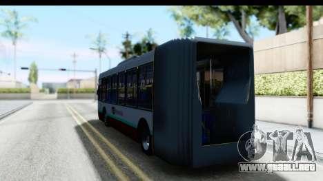 Metrobus de la Ciudad de Mexico para GTA San Andreas vista posterior izquierda