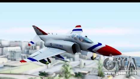 F-4 Phantom II Thunderbirds para GTA San Andreas vista posterior izquierda