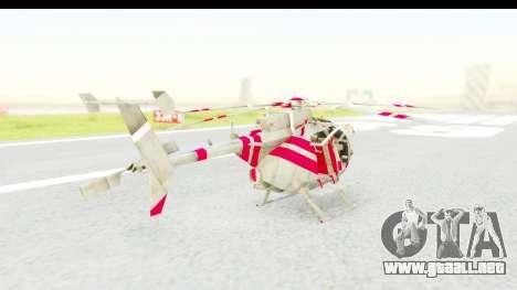 Smaga Sparrow Helis Military Version para GTA San Andreas left