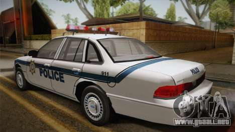 Ford Crown Victoria 1997 El Quebrados Police para GTA San Andreas left