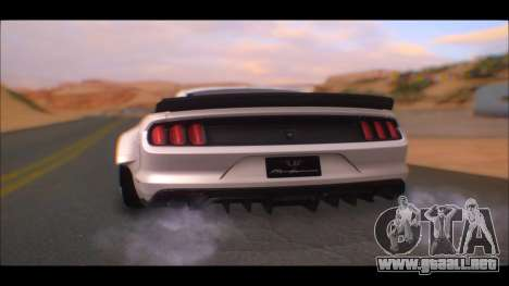 Ford Mustang 2015 Liberty Walk LP Performance para GTA San Andreas left