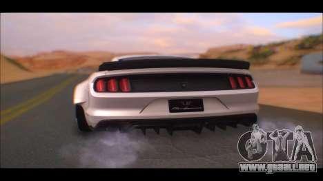 Ford Mustang 2015 Liberty Walk LP Performance para GTA San Andreas left