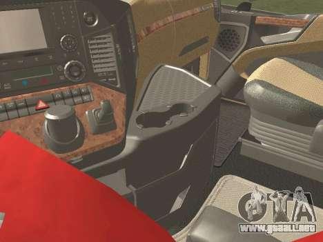 Mercedes-Benz Actros Mp4 4x2 v2.0 Bigspace v2 para visión interna GTA San Andreas