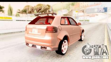 Audi S3 Slaam para GTA San Andreas left