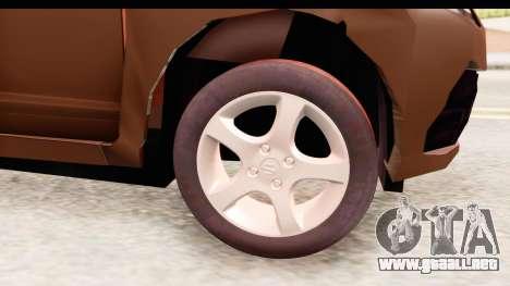 Honda Brio para GTA San Andreas vista hacia atrás