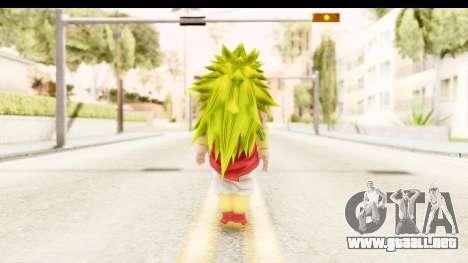 Dragon Ball Xenoverse Broly SSJ3 para GTA San Andreas tercera pantalla