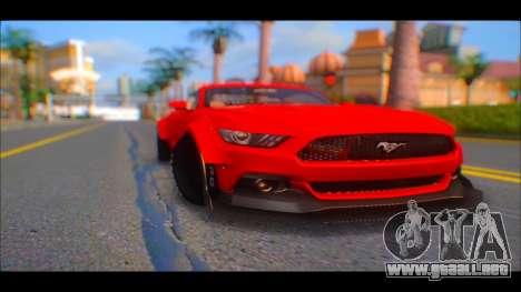 Ford Mustang 2015 Liberty Walk LP Performance para la visión correcta GTA San Andreas