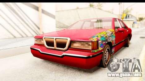Elegant Sticker Bomb para la visión correcta GTA San Andreas