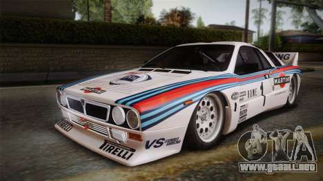Lancia Rally 037 Stradale (SE037) 1982 IVF Dirt1 para vista inferior GTA San Andreas