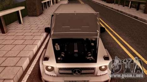 Mercedes-Benz G65 para vista lateral GTA San Andreas