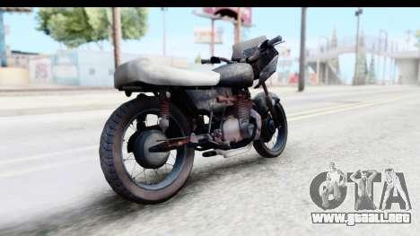 Kawasaki KZ900 1973 Mad Max 2 para GTA San Andreas vista posterior izquierda