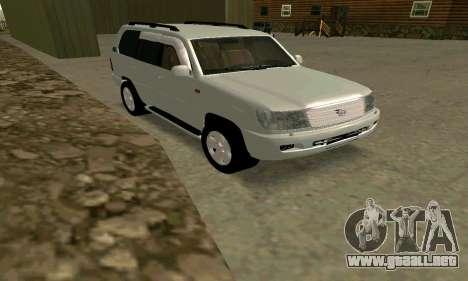 Toyota Land Cruiser 100 VX para GTA San Andreas vista posterior izquierda