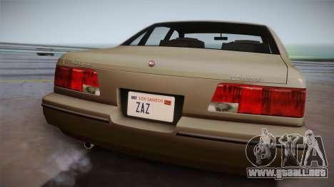 Declasse Premier 1992 SA Style para la visión correcta GTA San Andreas