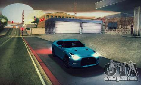 Nissan GT-R R35 Premium para vista inferior GTA San Andreas