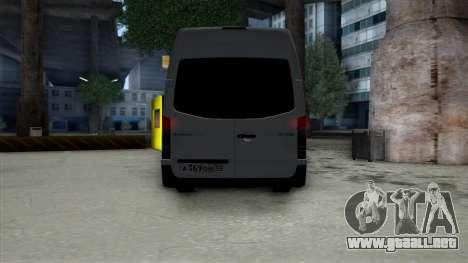 Mercedes-Benz Sprinter para visión interna GTA San Andreas