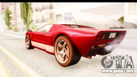 GTA 4 TboGT Bullet para GTA San Andreas vista posterior izquierda