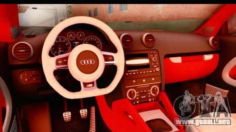 Audi S3 Slaam para visión interna GTA San Andreas