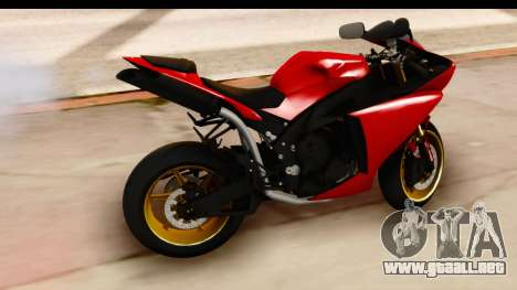 Yamaha R1 2014 para la visión correcta GTA San Andreas